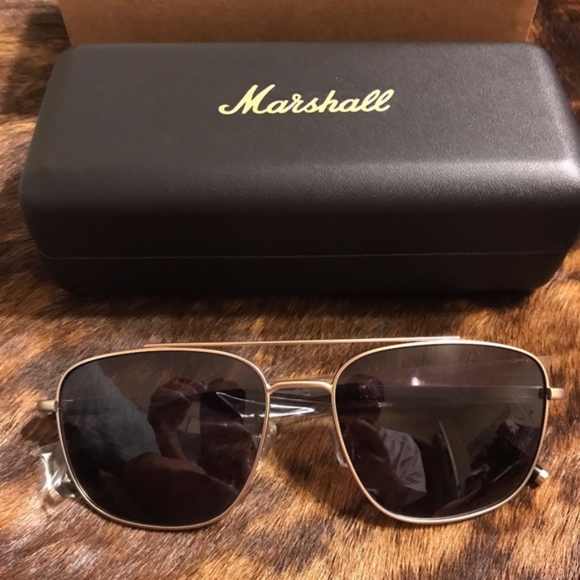 d98f4a50904 Marshall Eyewear Aviator Gold Metal Sunglasses